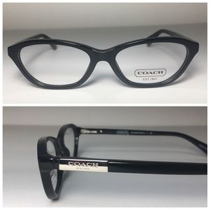 Coach Black Silver Cat Eye Eyeglasses Frames NWOT